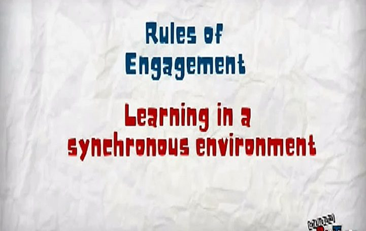 Rules of Engagement: Learning in a synchronous environment